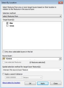 ArcGIS Selection Tool Functions